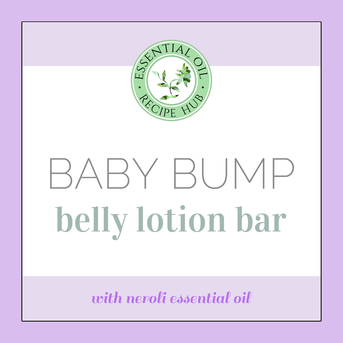baby bump belly lotion bar