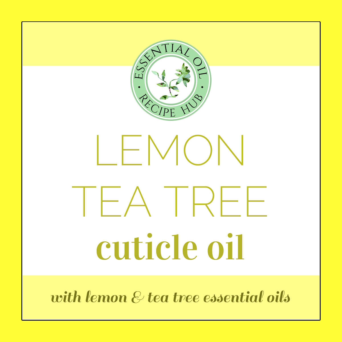 lemon tea tree cuticle oil